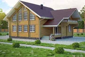 Дом из клееного бруса АСД-Женева