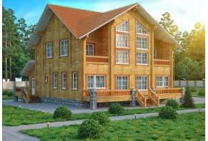 Деревянный дом из клееного бруса Инсбург
