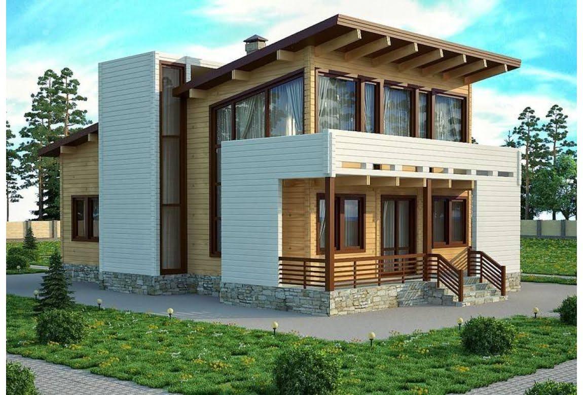 Проект дома из клееного бруса Кельн