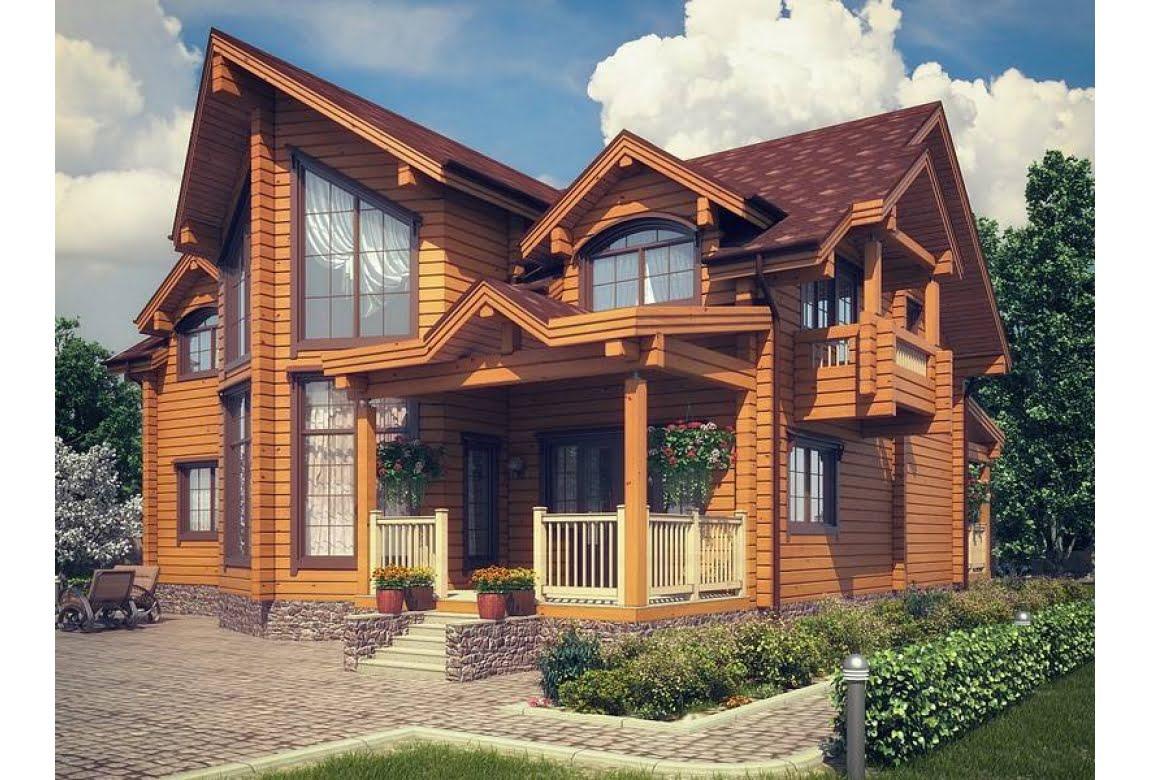 Проект дома из клееного бруса Корвет