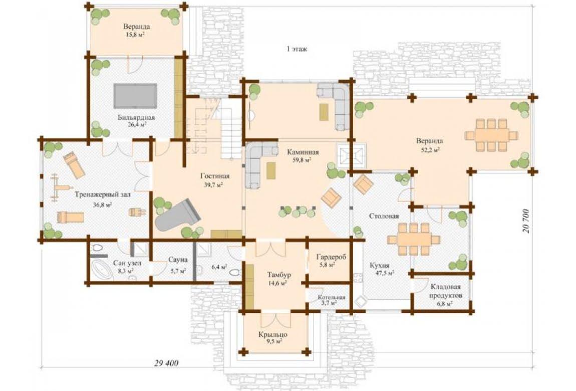 План N1 проекта ВИП дома АСД-Лахти