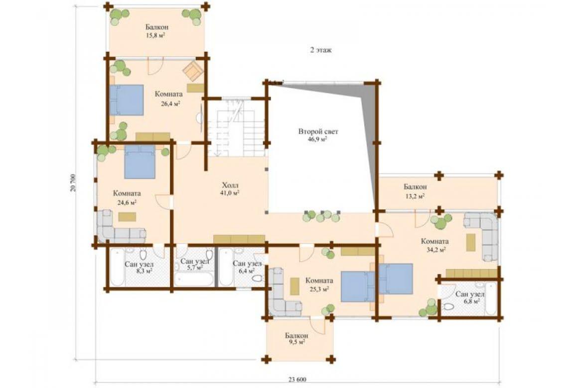 План N2 проекта ВИП дома АСД-Лахти