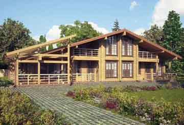 Дом из клееного бруса АСД-Лозанна