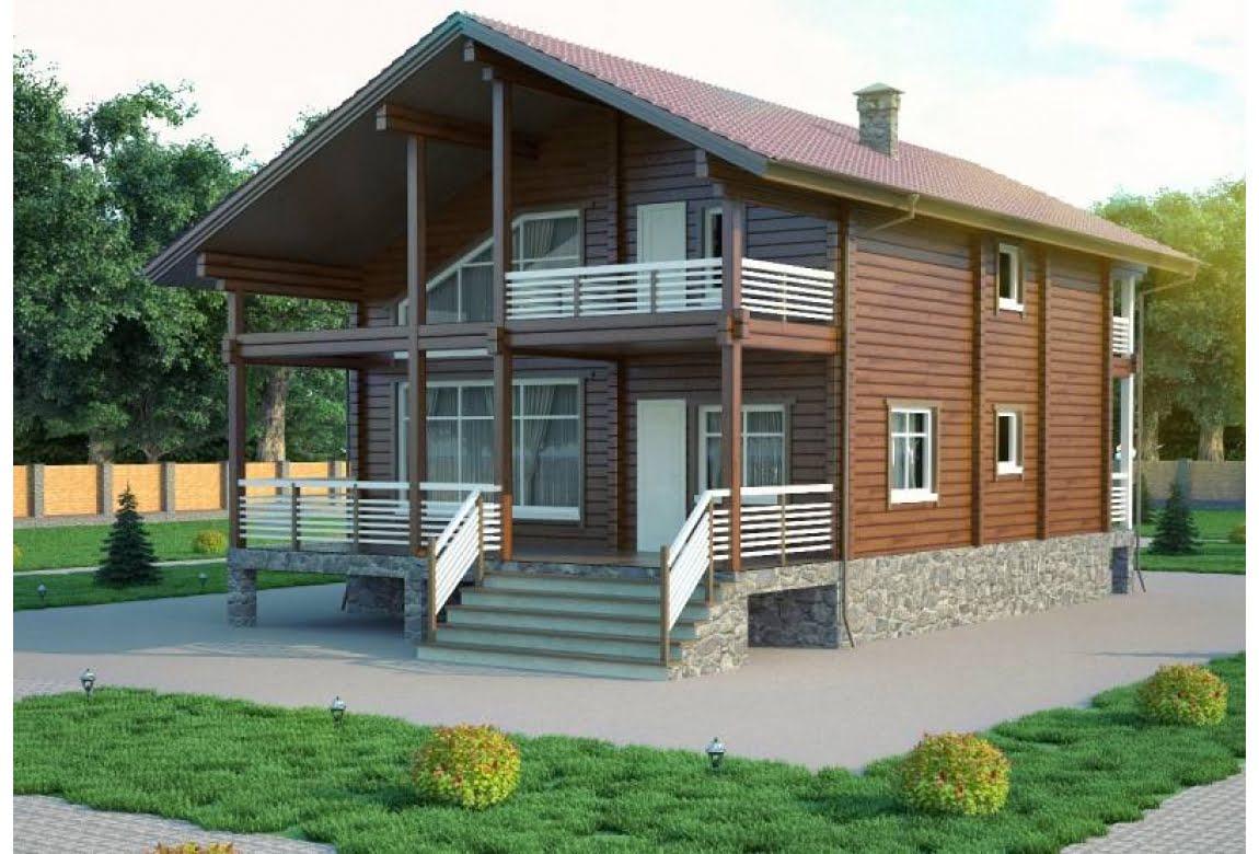 Проект дома из клееного бруса Ницца