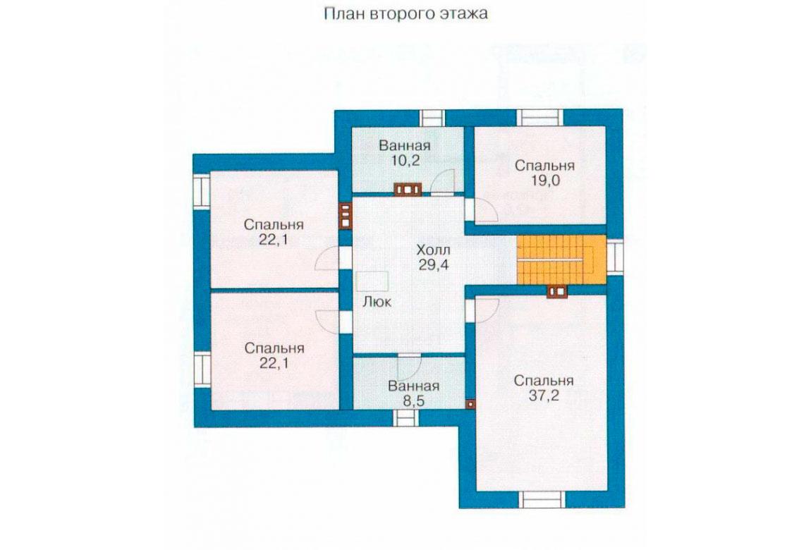 План N1 проекта кирпичного дома АСД-1061