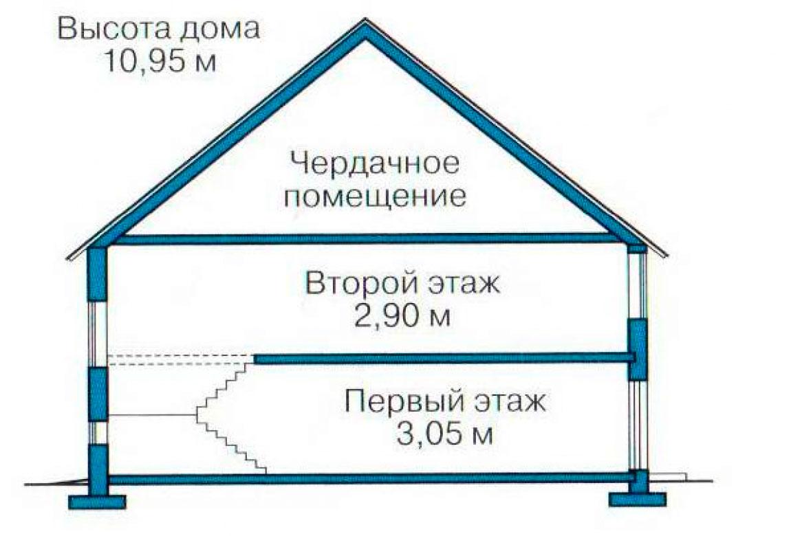 План N3 проекта кирпичного дома АСД-1061