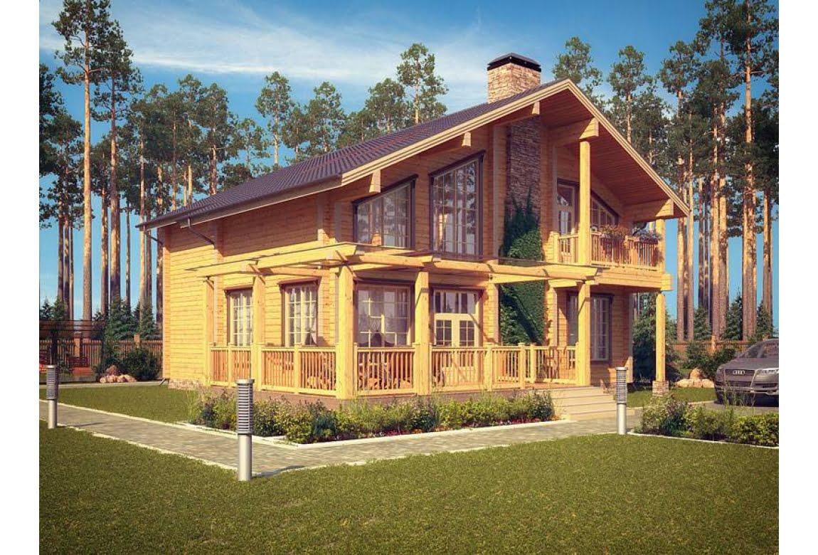 Проект дома из клееного бруса Сканди