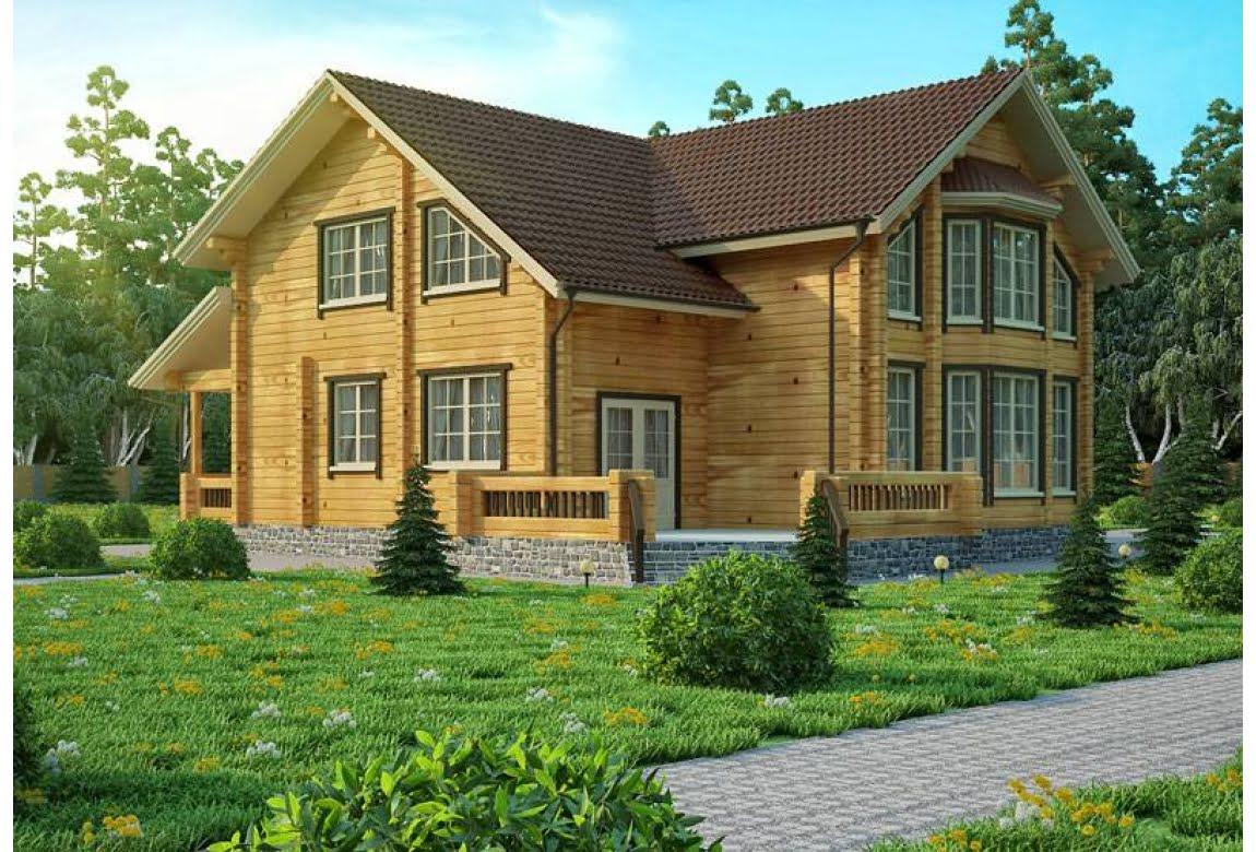 Проект дома из клееного бруса Толедо