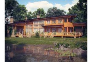 Деревянный дом из клееного бруса Финляндия