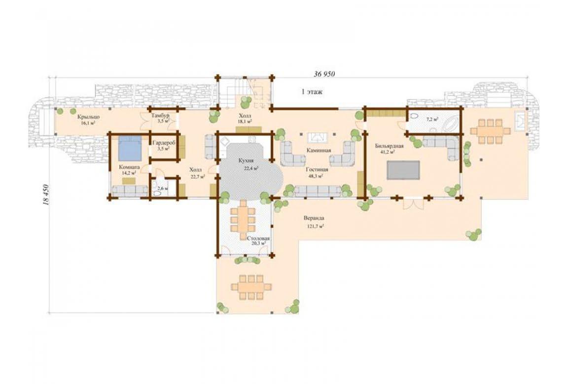 План N1 проекта ВИП дома АСД-Финляндия
