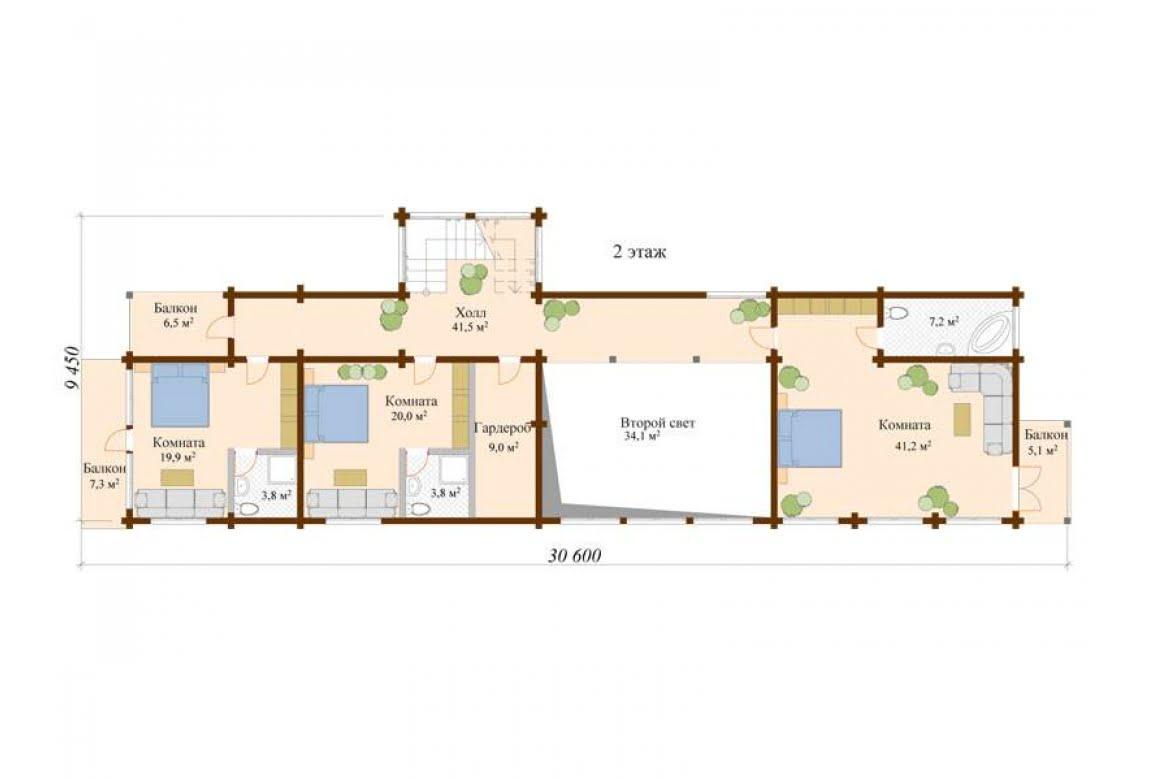 План N2 проекта ВИП дома АСД-Финляндия