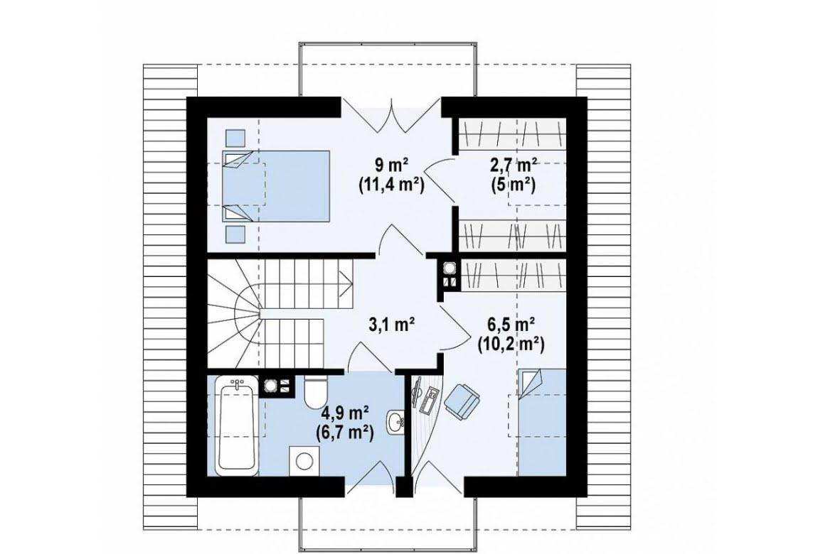 План N2 проекта дома из СИП-панелей АСД-1621
