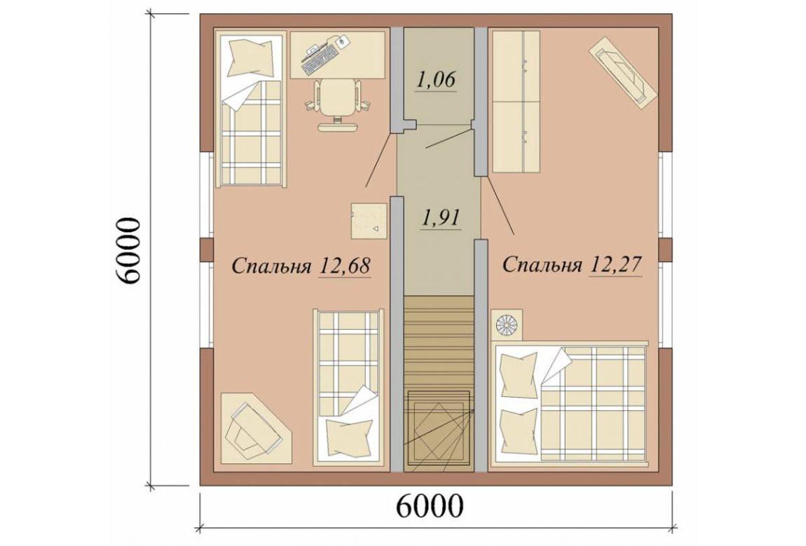 План N2 проекта дома из СИП-панелей АСД-1622