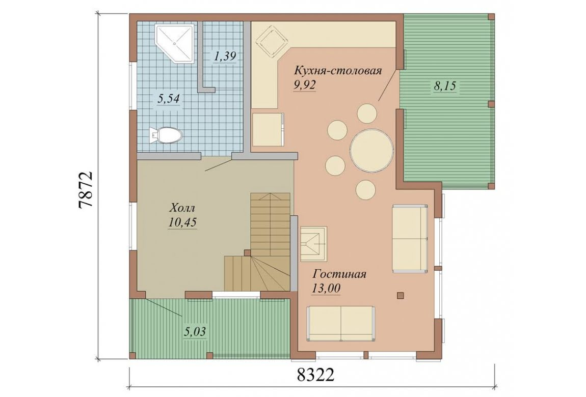 План N1 проекта дома из СИП-панелей АСД-1624