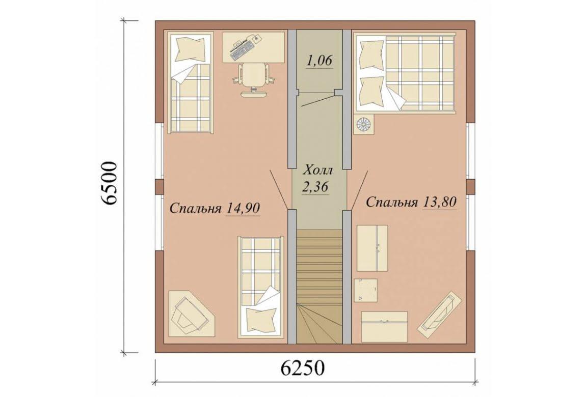 План N2 проекта дома из СИП-панелей АСД-1624