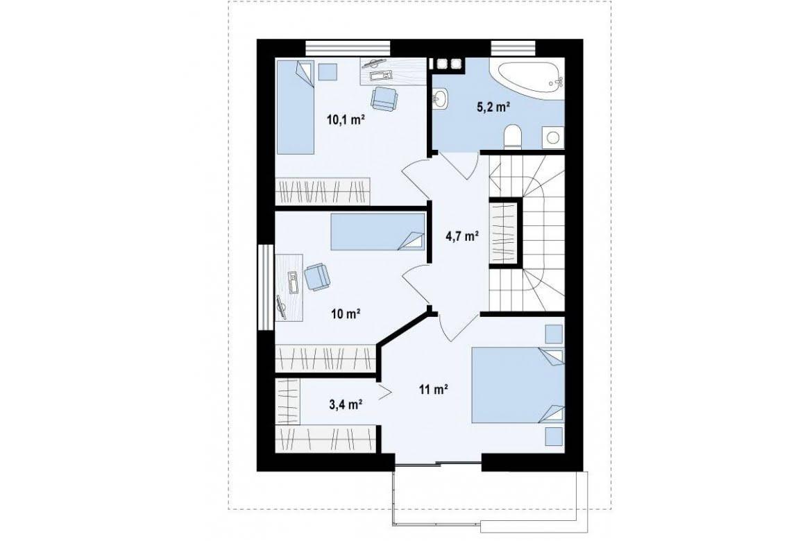 План N2 проекта дома из СИП-панелей АСД-1625