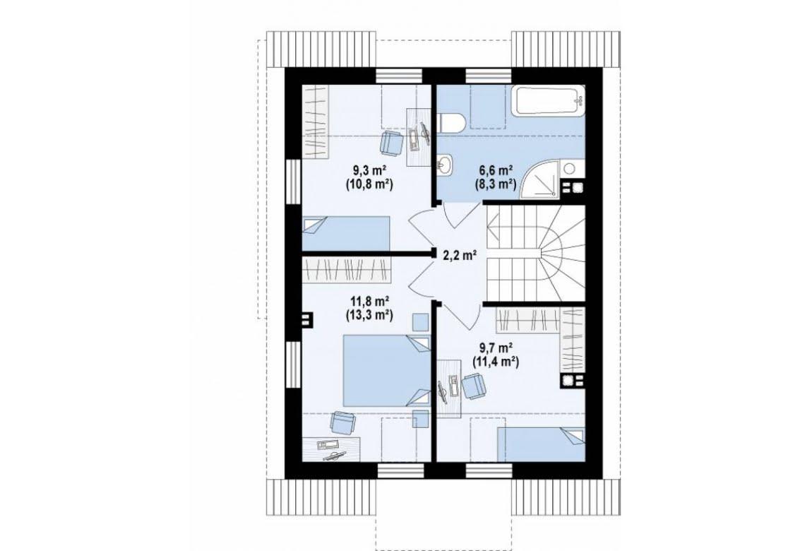 План N2 проекта дома из СИП-панелей АСД-1628