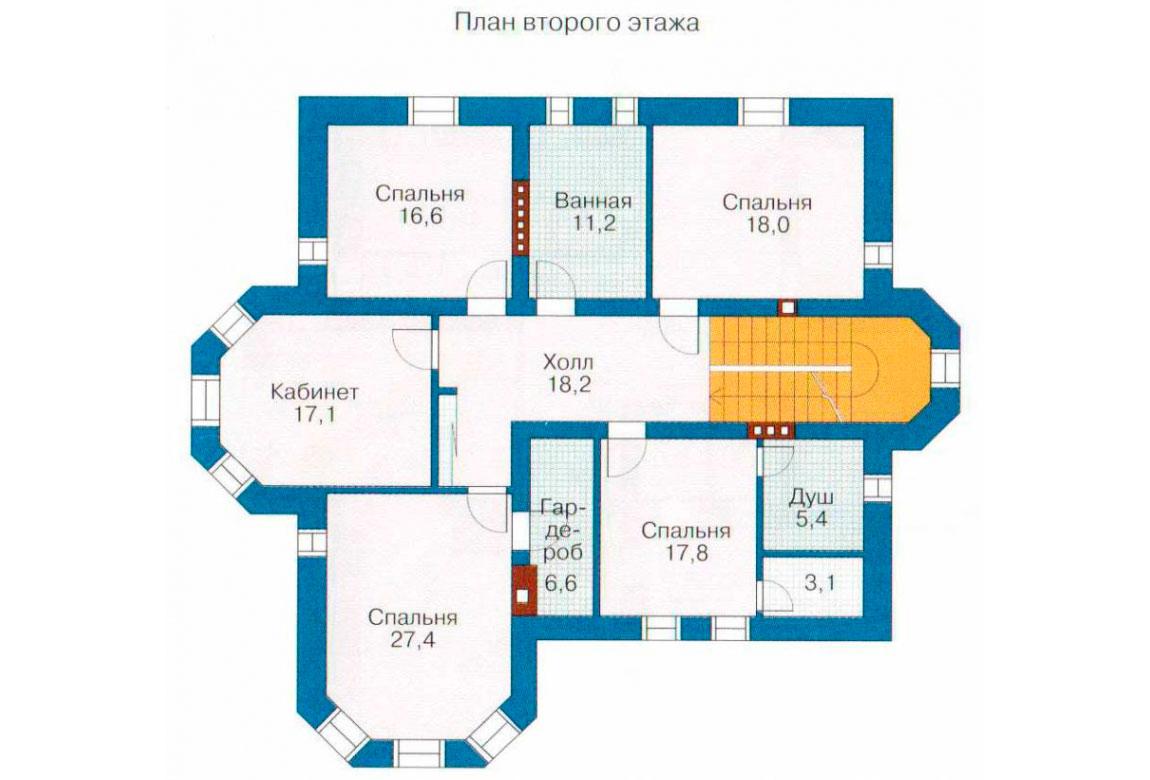 План N1 проекта кирпичного дома АСД-1063