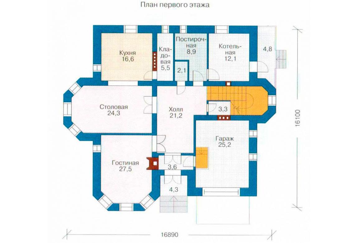 План N2 проекта кирпичного дома АСД-1063