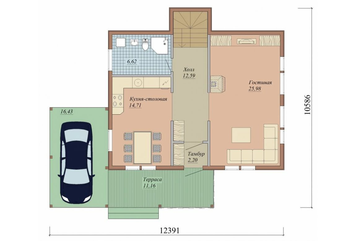 План N1 проекта дома из СИП-панелей АСД-1631
