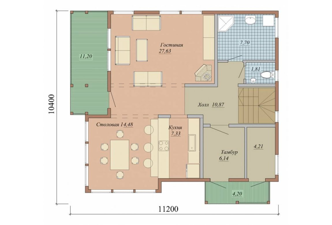 План N1 проекта дома из СИП-панелей АСД-1635
