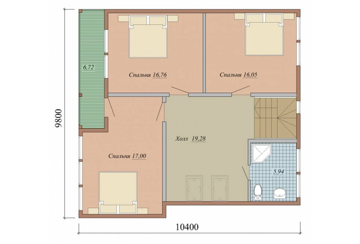 План N2 проекта дома из СИП-панелей АСД-1635