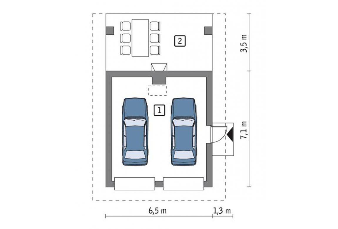 План N1 проекта гаража АСД-1639