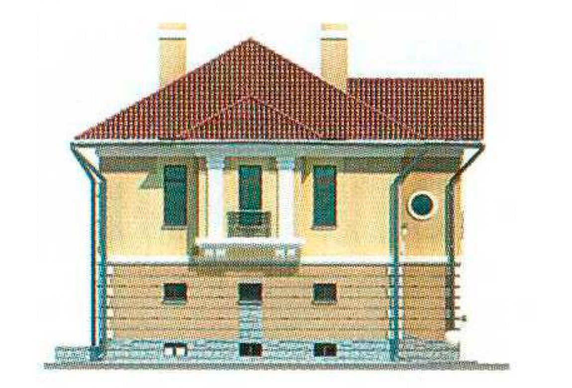 Проект дома из кирпича АСД-1064 (uploads/gss/goods/64/big_2.jpg).