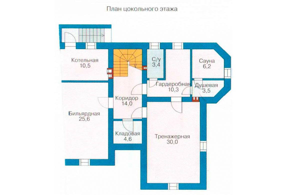 План N1 проекта кирпичного дома АСД-1064