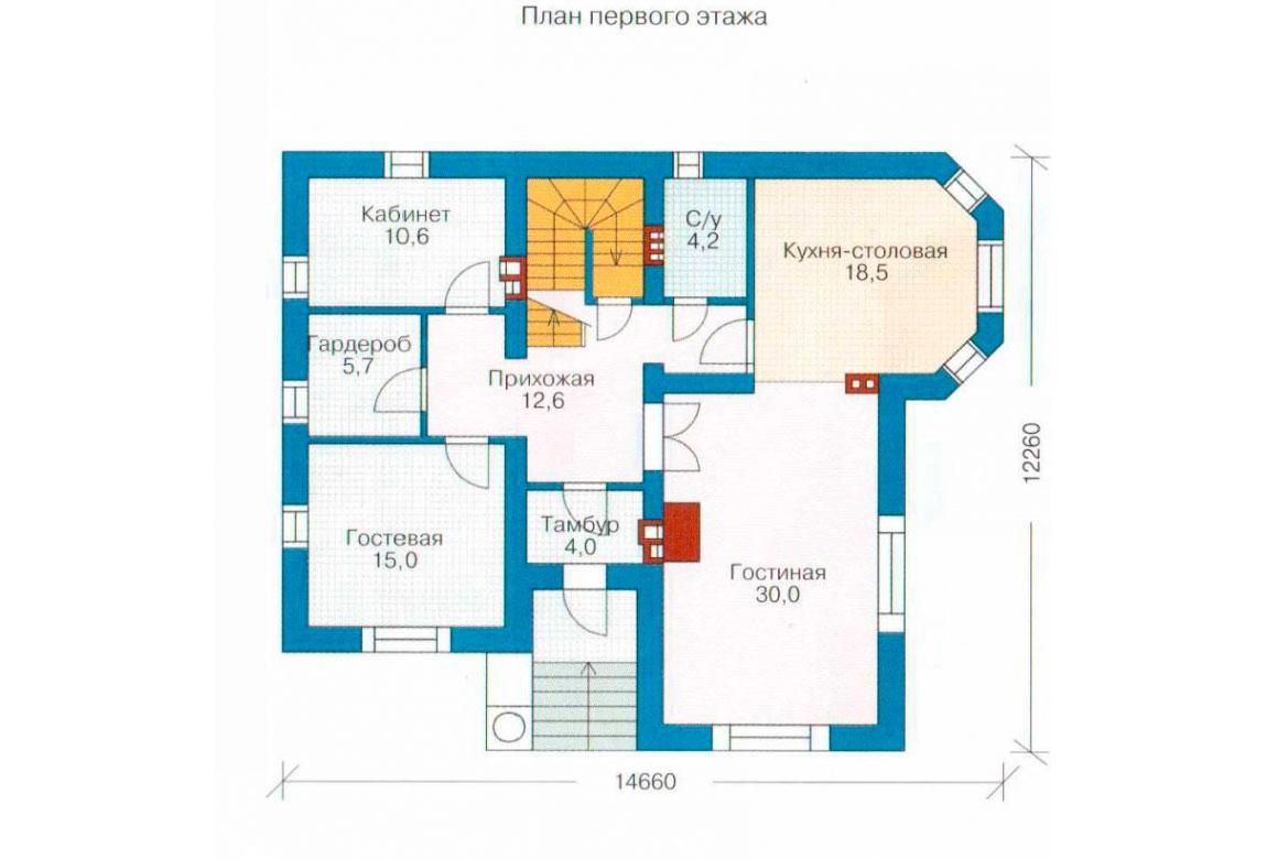 План N2 проекта кирпичного дома АСД-1064