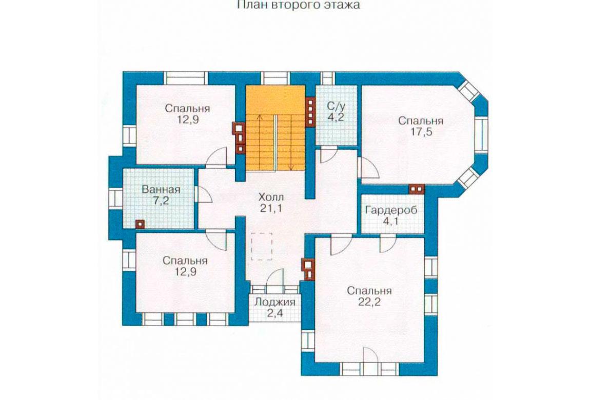 План N3 проекта кирпичного дома АСД-1064