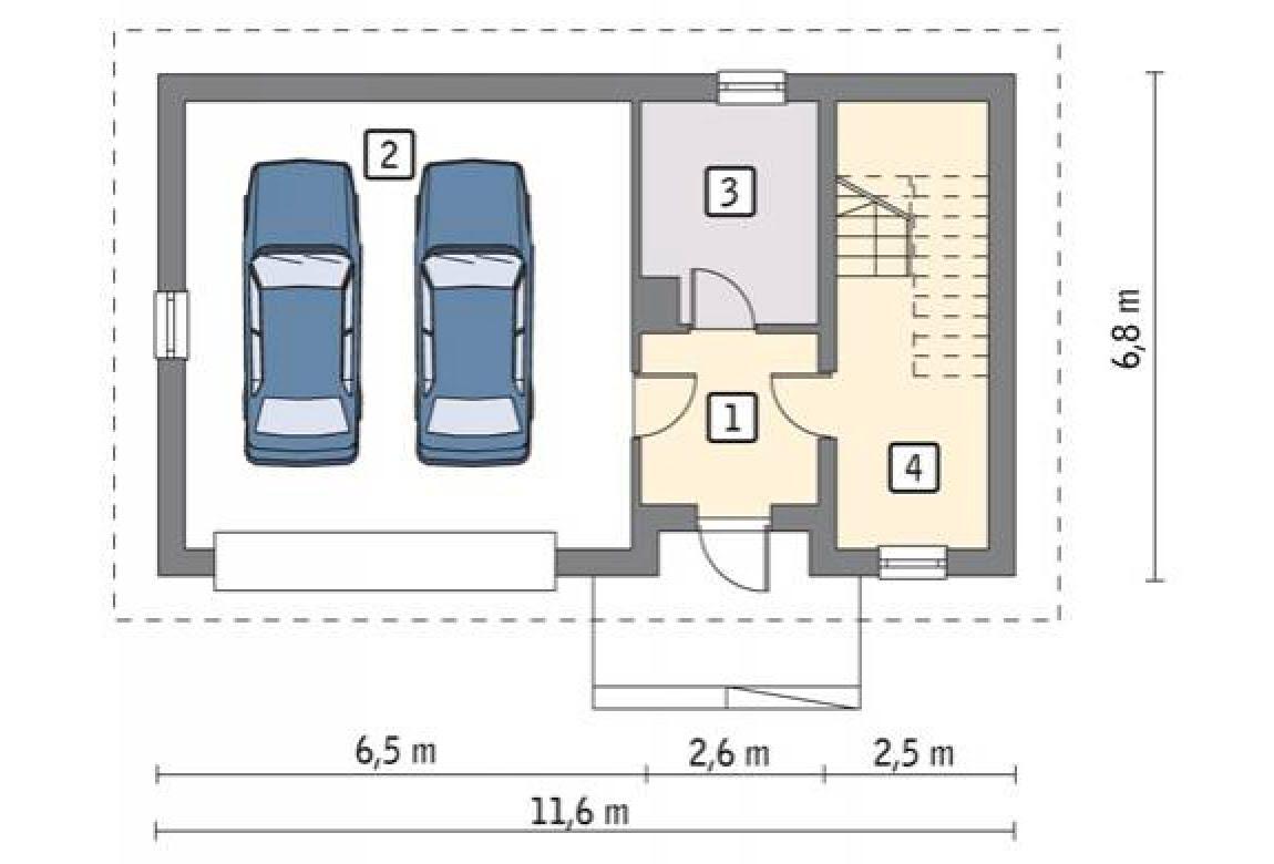 План N1 проекта гаража АСД-1640