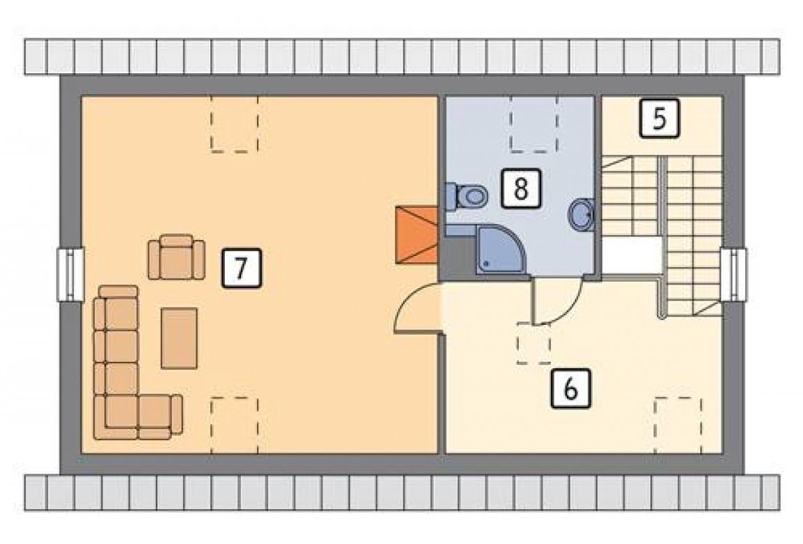План N2 проекта гаража АСД-1640