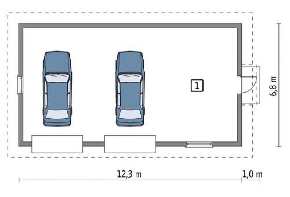 План N1 проекта гаража АСД-1641