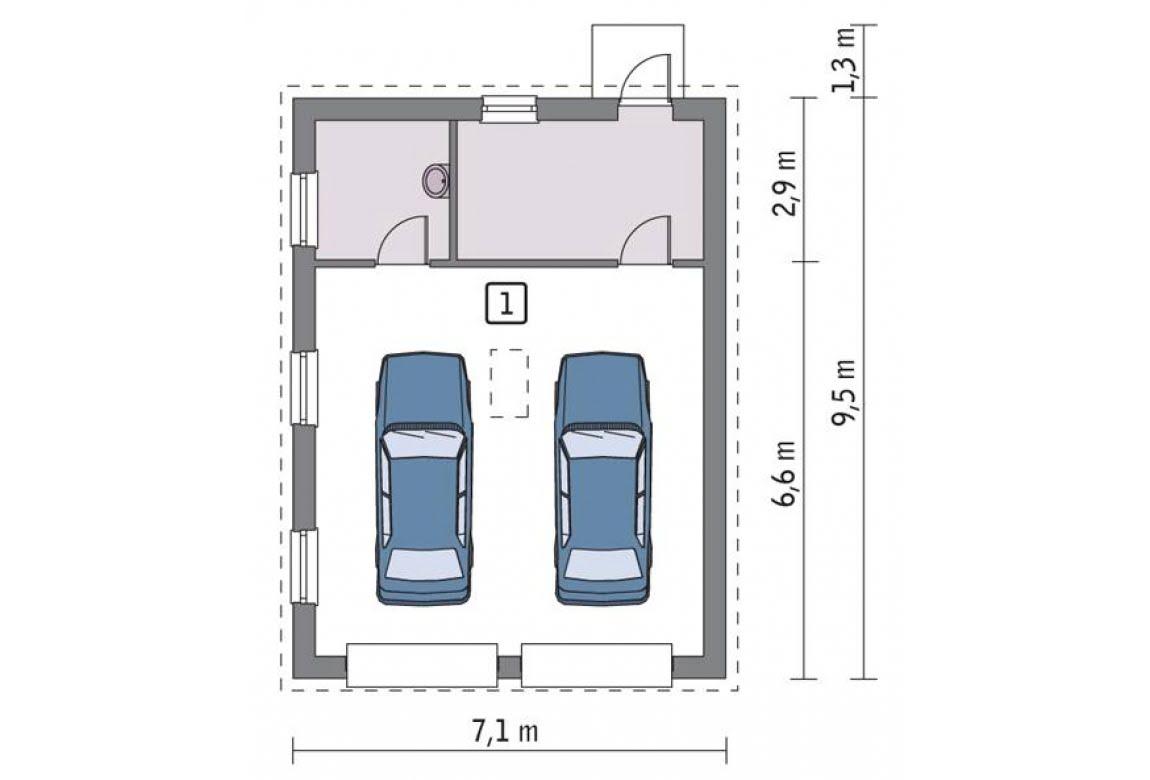 План N1 проекта гаража АСД-1642