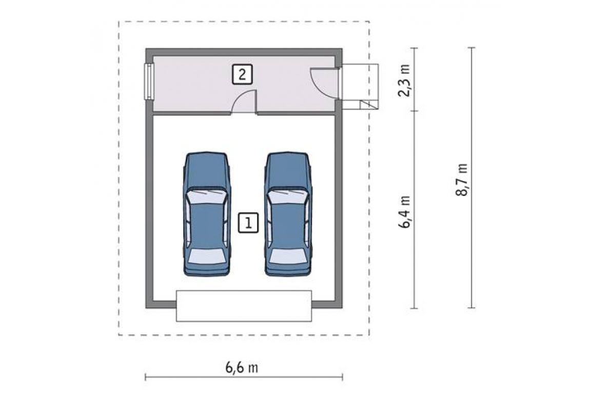 План N1 проекта гаража АСД-1643