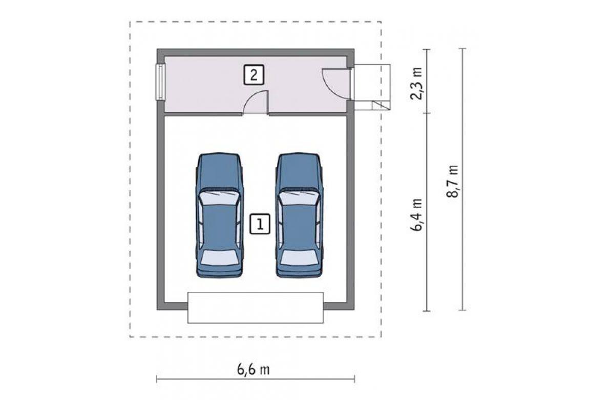 План N1 проекта гаража АСД-1644