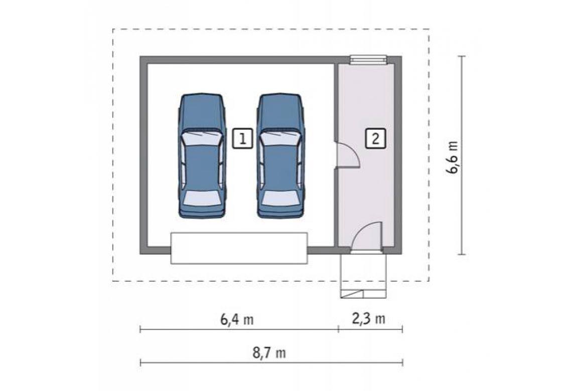 План N1 проекта гаража АСД-1647