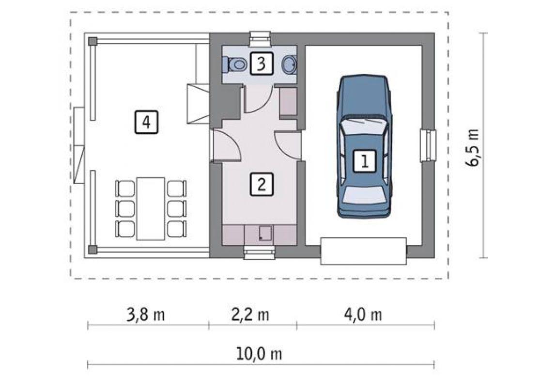 План N1 проекта гаража АСД-1648