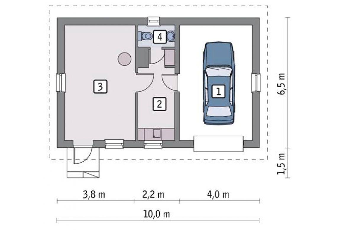 План N1 проекта гаража АСД-1649