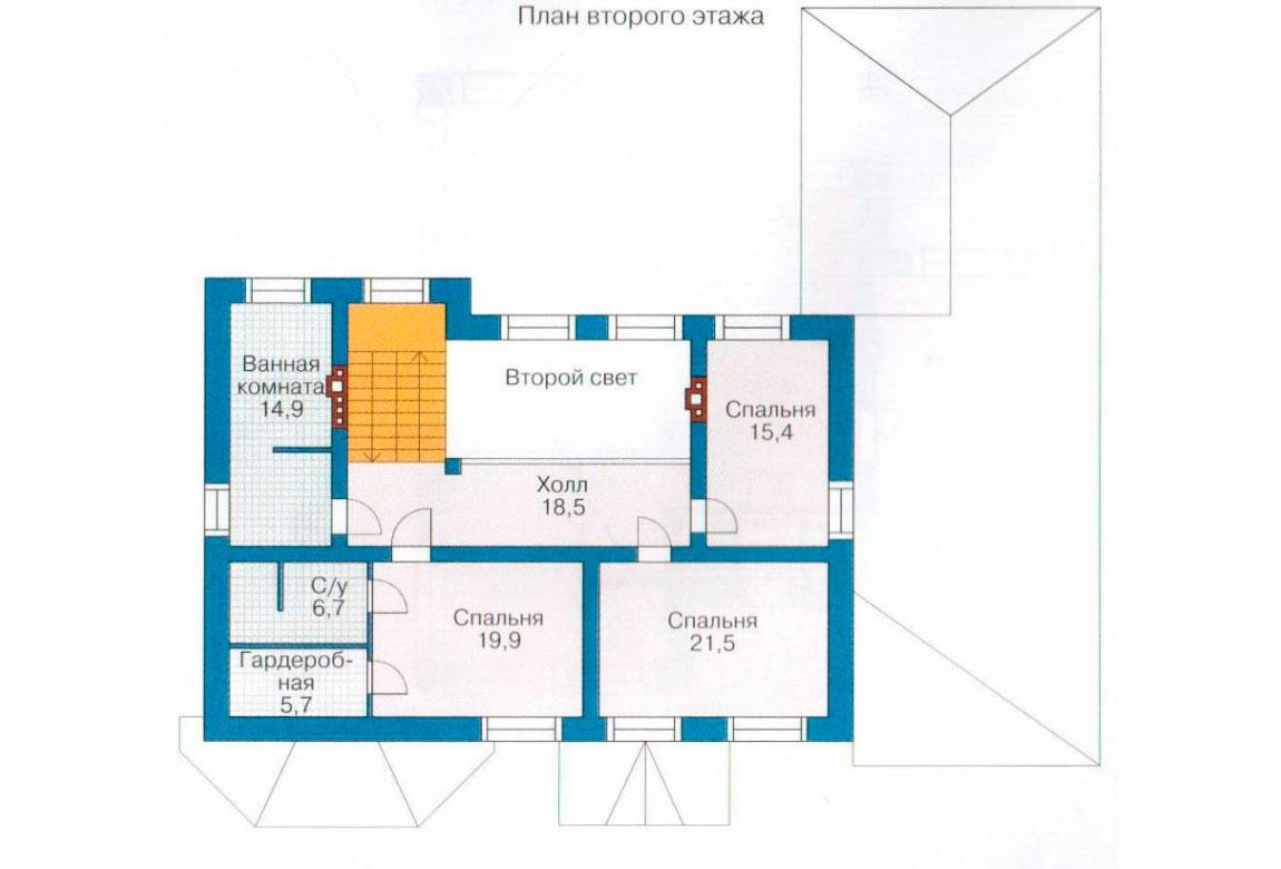 План N2 проекта кирпичного дома АСД-1065