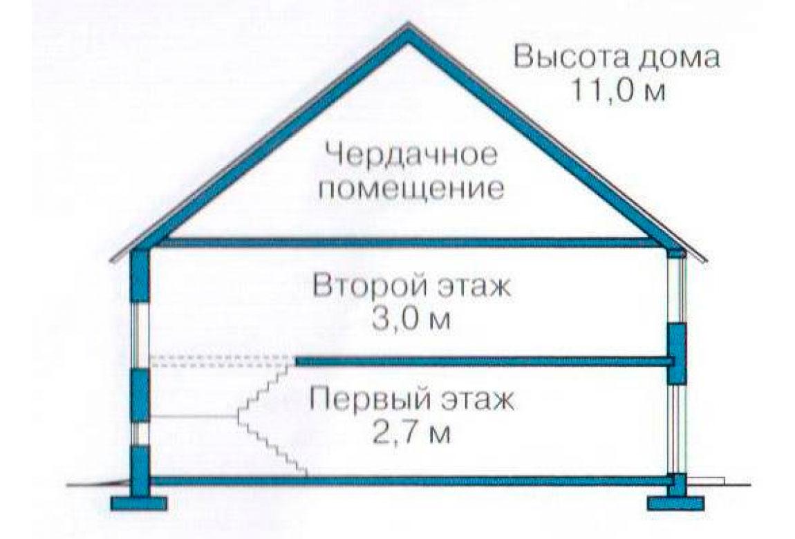 План N3 проекта кирпичного дома АСД-1065