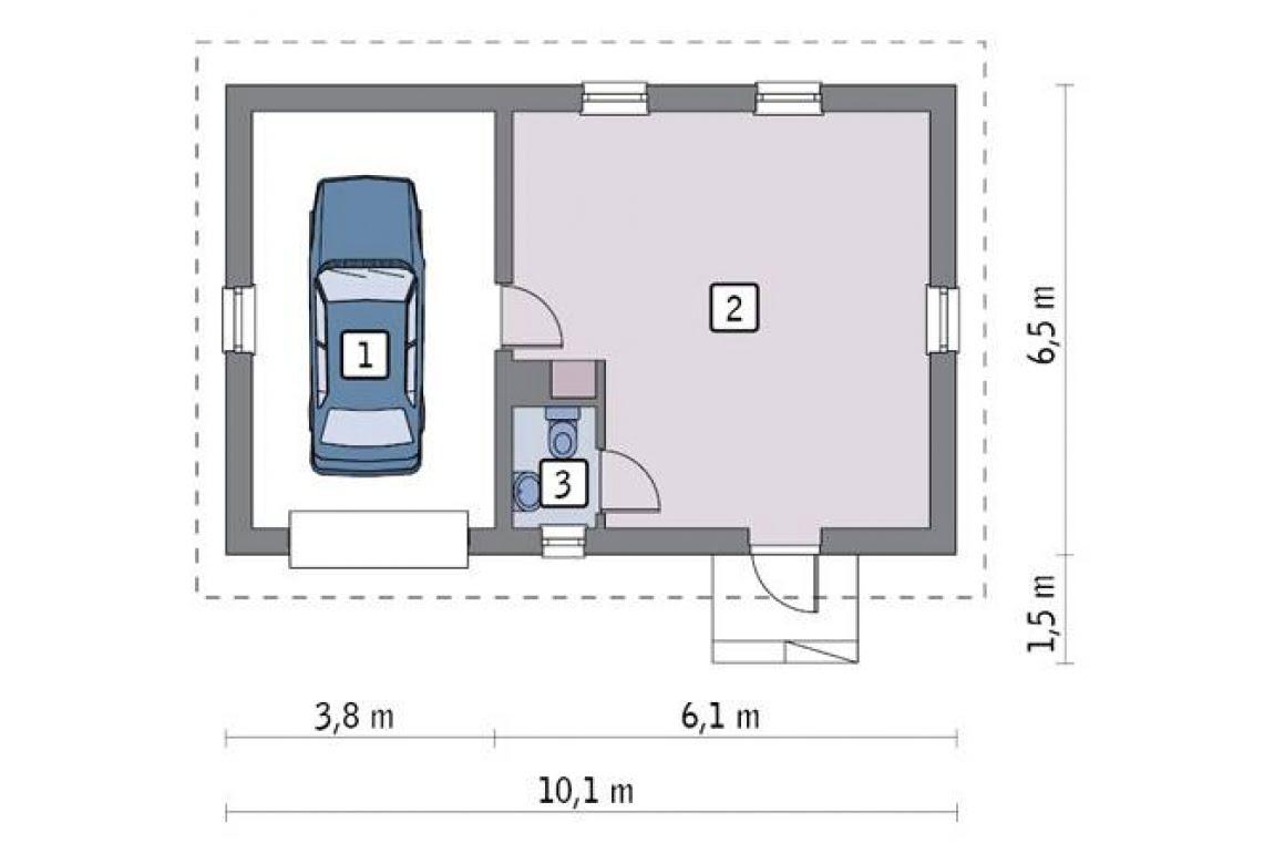 План N1 проекта гаража АСД-1651