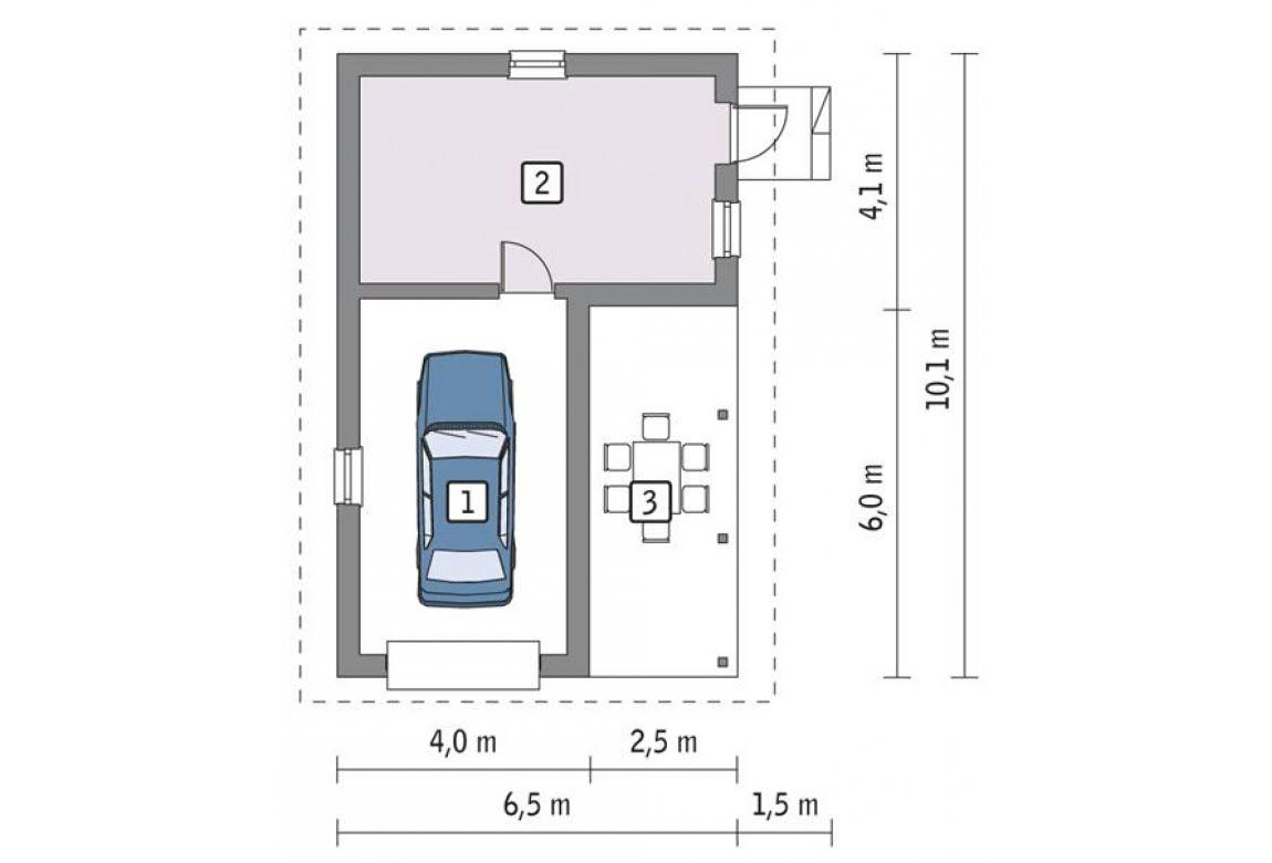 План N1 проекта гаража АСД-1652