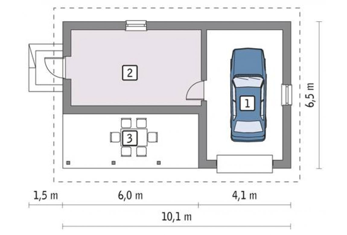 План N1 проекта гаража АСД-1653