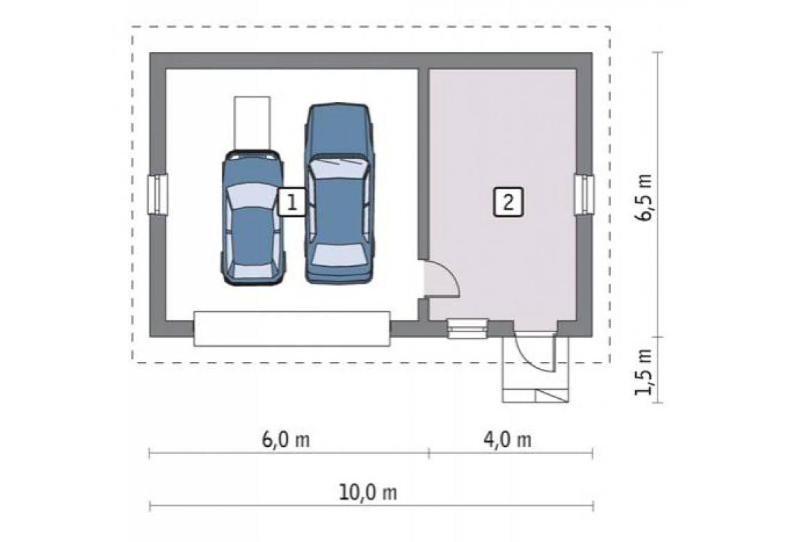План N1 проекта гаража АСД-1654
