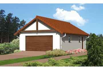 Проект гаража АСД-1655