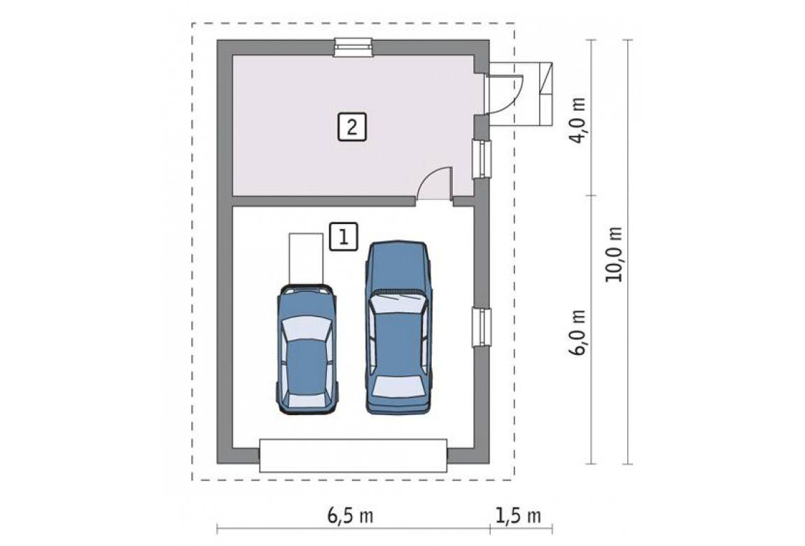 План N1 проекта гаража АСД-1655