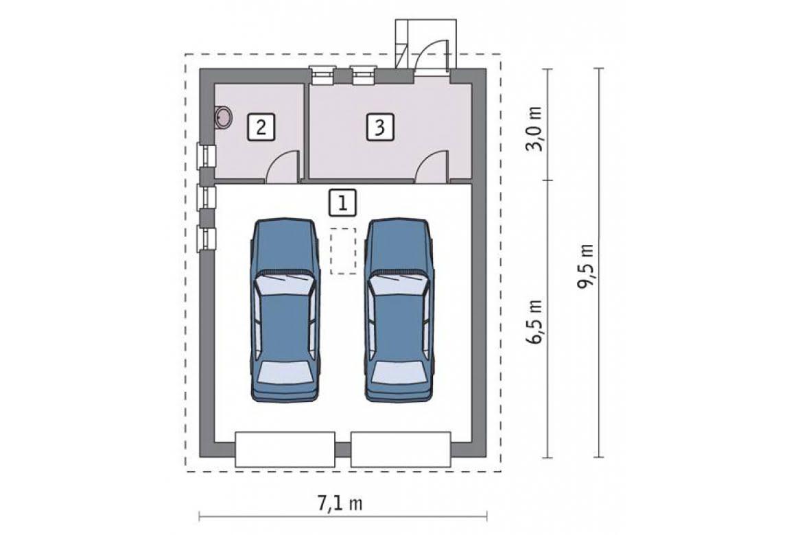 План N1 проекта гаража АСД-1656