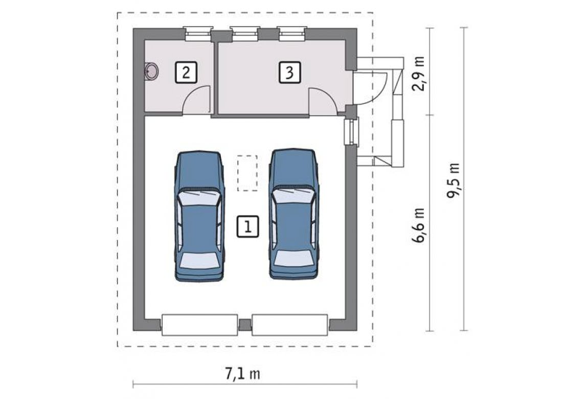 План N1 проекта гаража АСД-1657